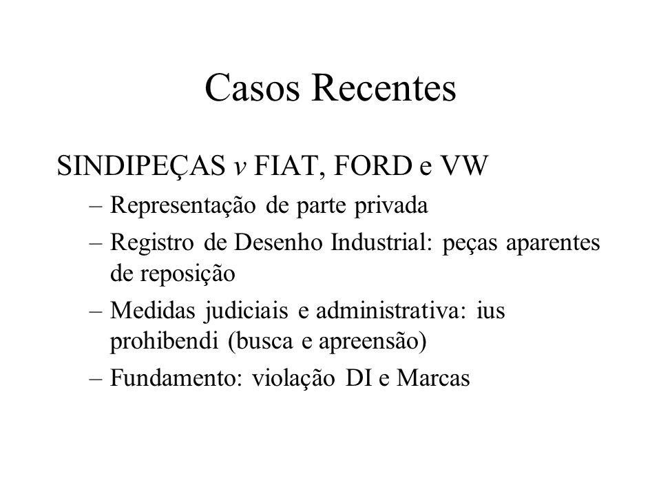 Casos Recentes SINDIPEÇAS v FIAT, FORD e VW