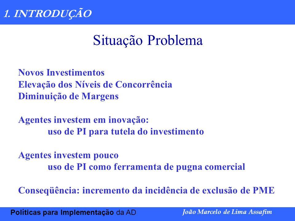 Situação Problema 1. INTRODUÇÃO Novos Investimentos