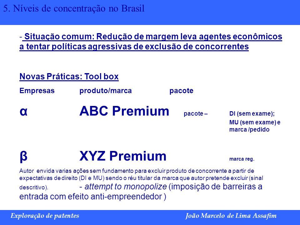 α ABC Premium pacote – DI (sem exame); MU (sem exame) e marca /pedido