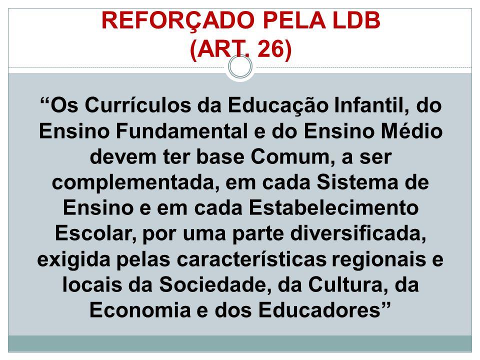 REFORÇADO PELA LDB (ART. 26)