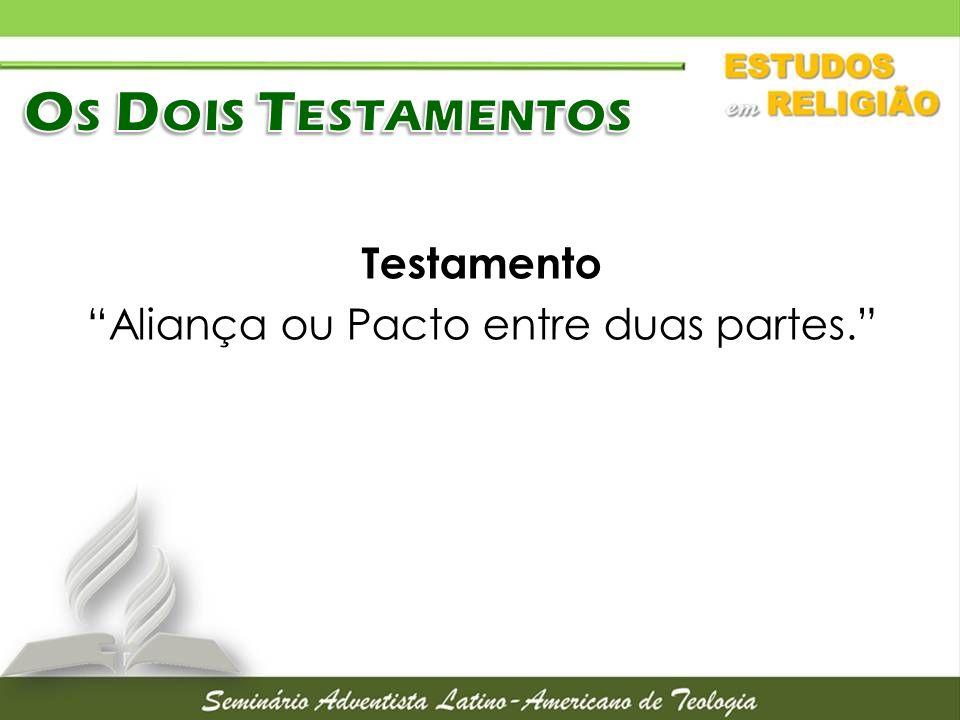 Testamento Aliança ou Pacto entre duas partes.