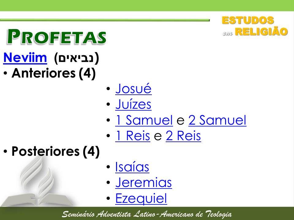 Profetas Neviim נביאים)) Anteriores (4) Josué Juízes
