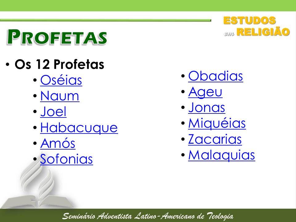 Profetas Os 12 Profetas Oséias Obadias Naum Ageu Joel Jonas Habacuque