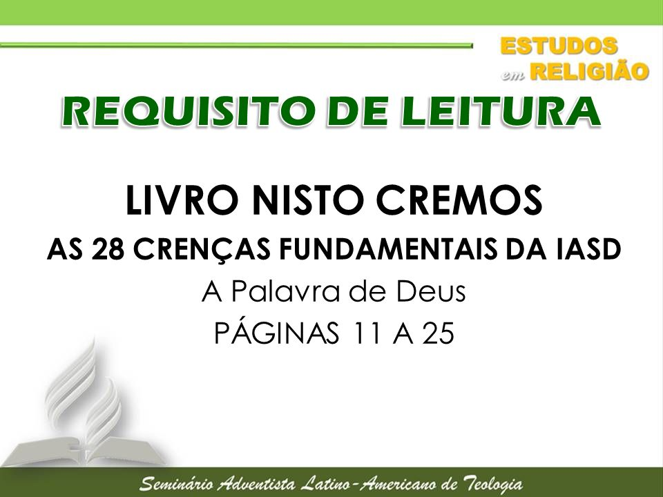 AS 28 CRENÇAS FUNDAMENTAIS DA IASD