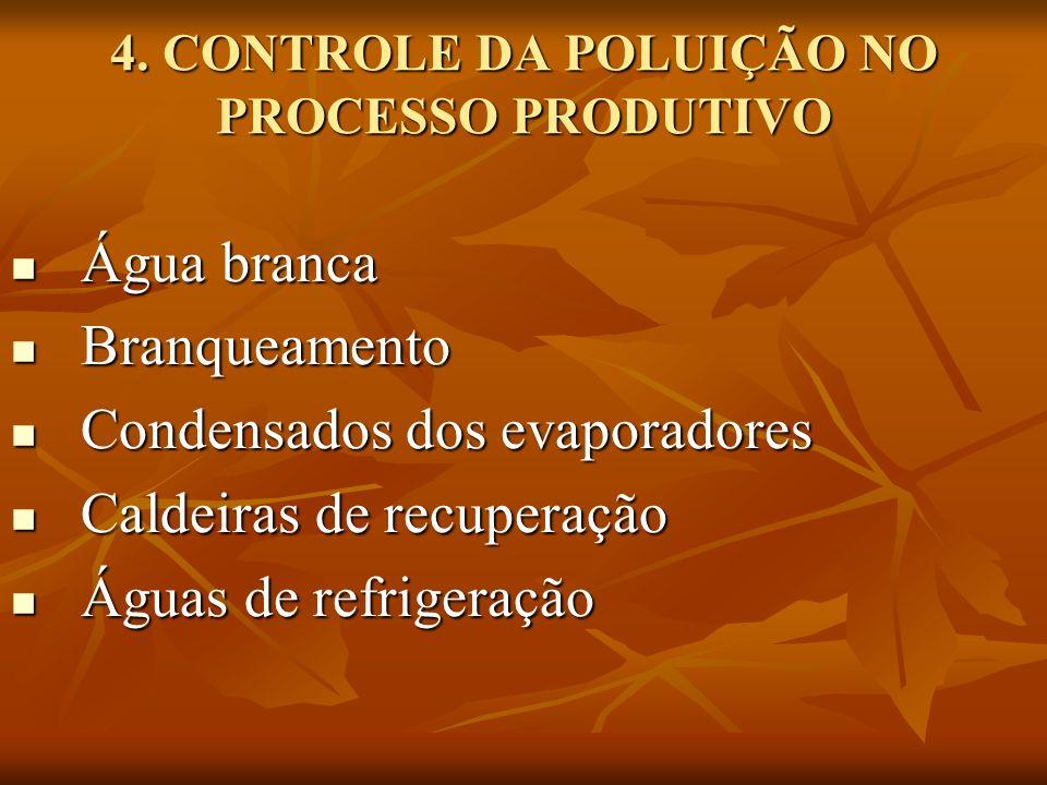4. CONTROLE DA POLUIÇÃO NO PROCESSO PRODUTIVO