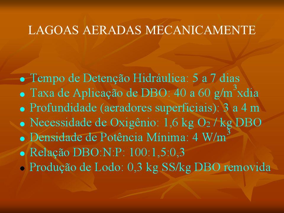 LAGOAS AERADAS MECANICAMENTE