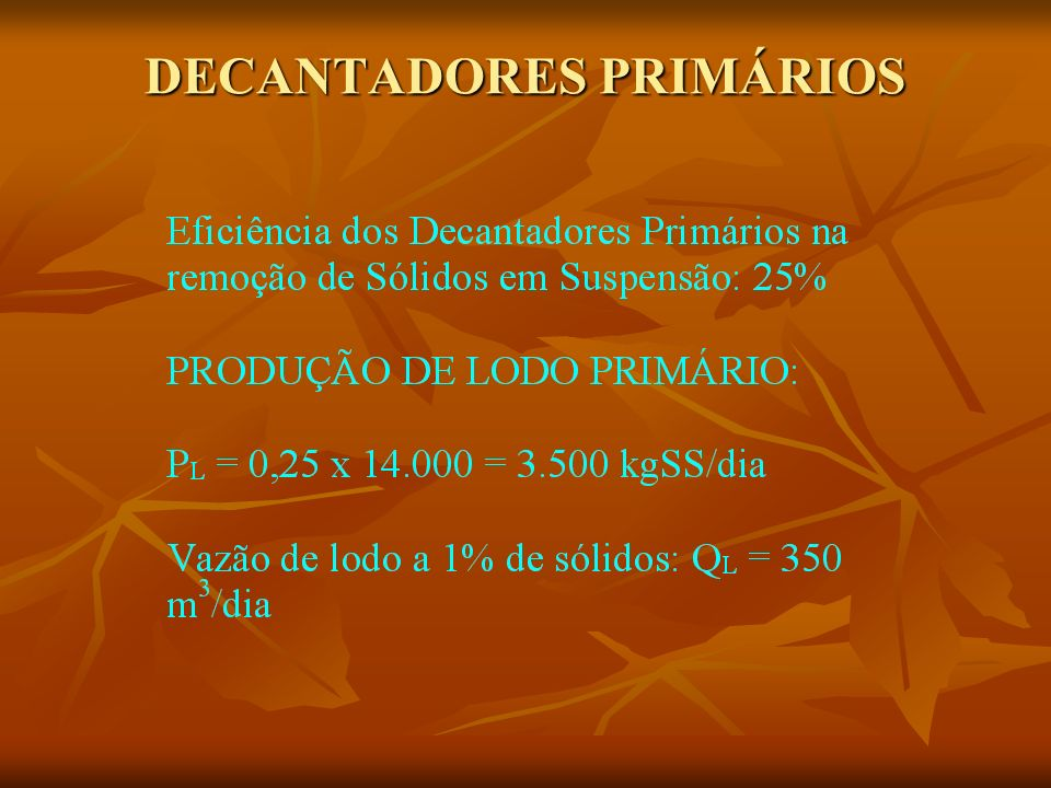 DECANTADORES PRIMÁRIOS