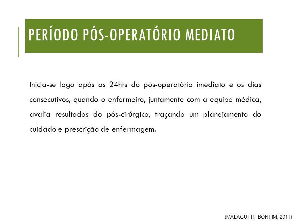 Período Pós-Operatório mediato