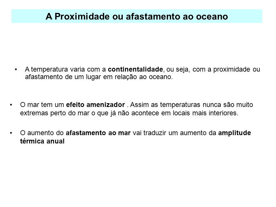 A Proximidade ou afastamento ao oceano