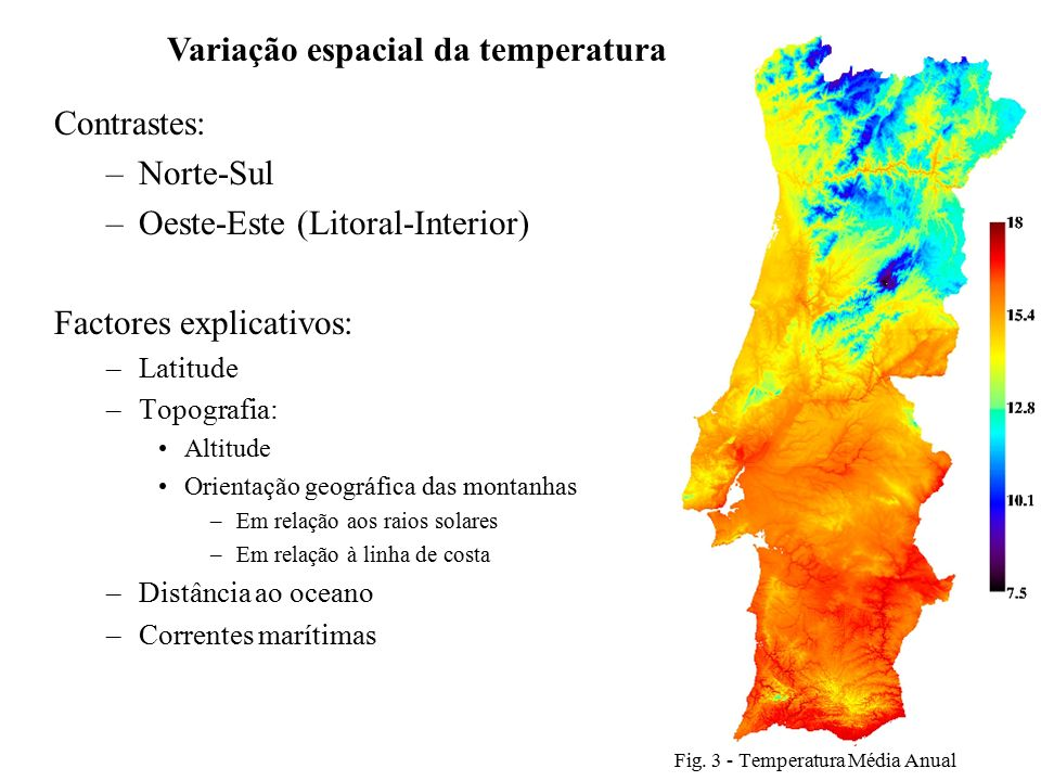 Fig. 3 - Temperatura Média Anual