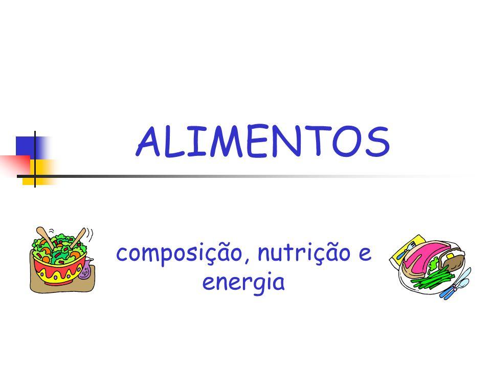 composição, nutrição e energia