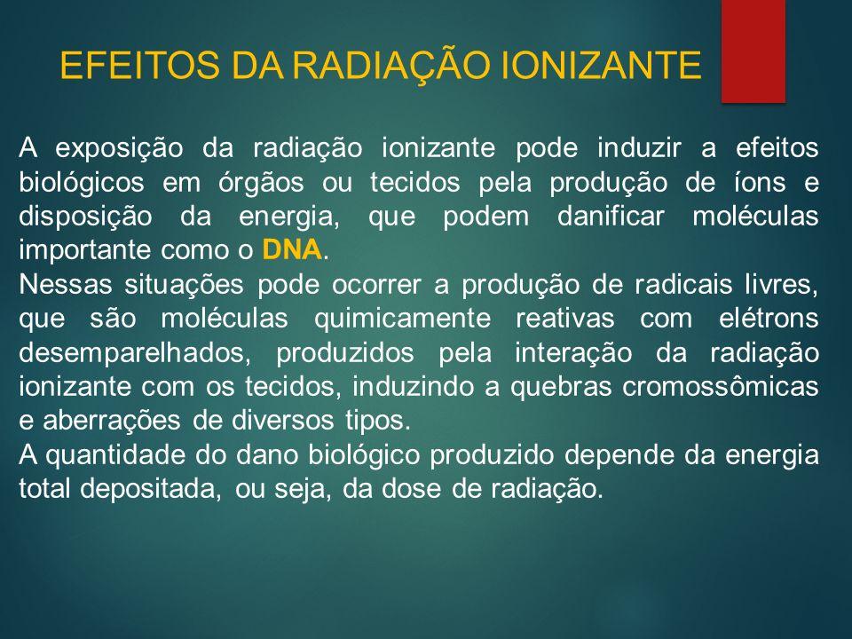 EFEITOS DA RADIAÇÃO IONIZANTE