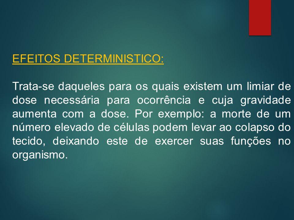 EFEITOS DETERMINISTICO:
