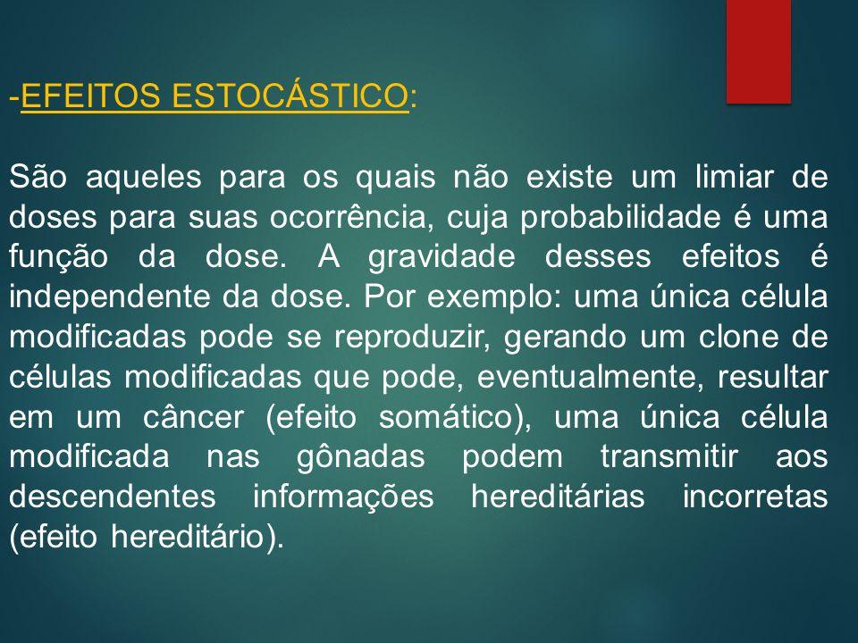 EFEITOS ESTOCÁSTICO: