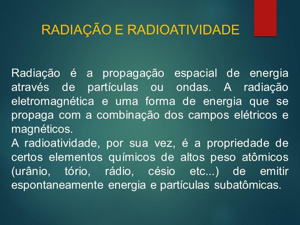 RADIAÇÃO E RADIOATIVIDADE