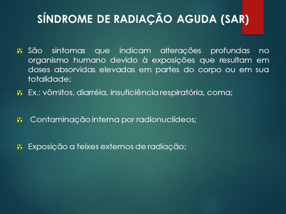 SÍNDROME DE RADIAÇÃO AGUDA (SAR)
