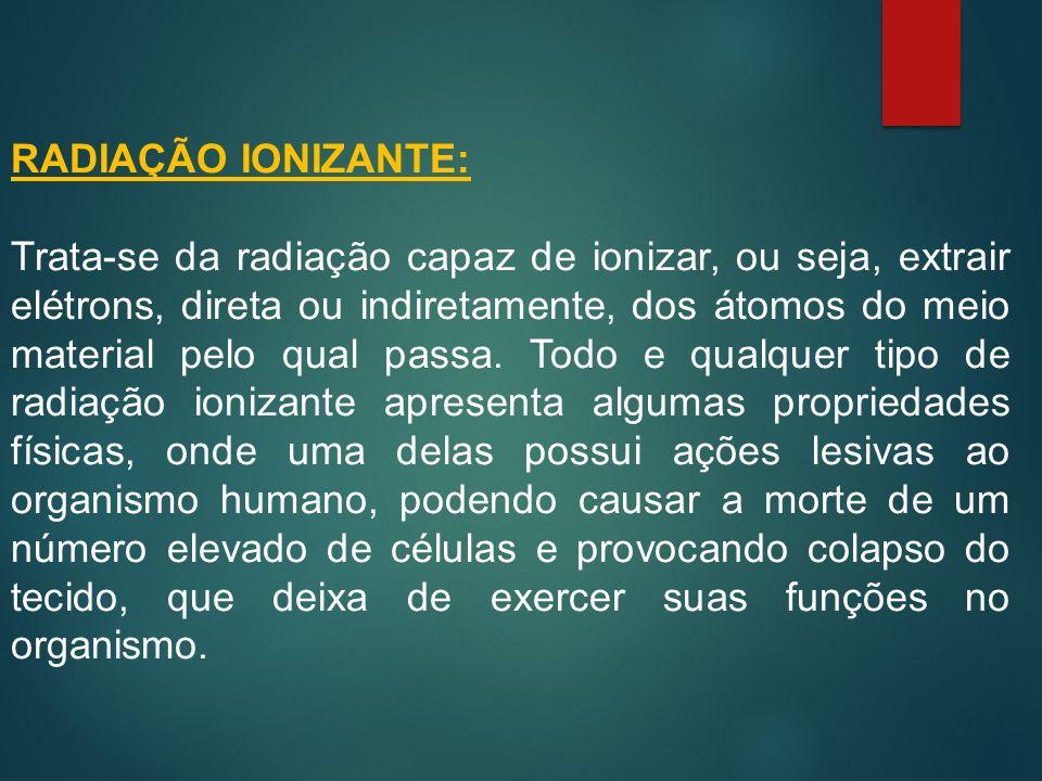 RADIAÇÃO IONIZANTE: