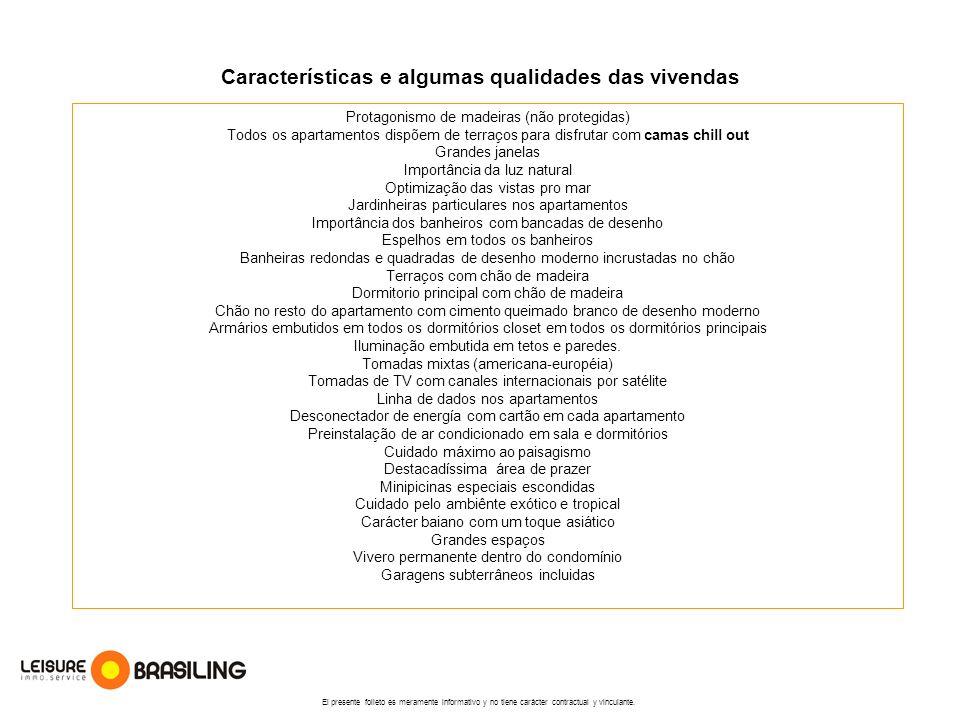 Características e algumas qualidades das vivendas