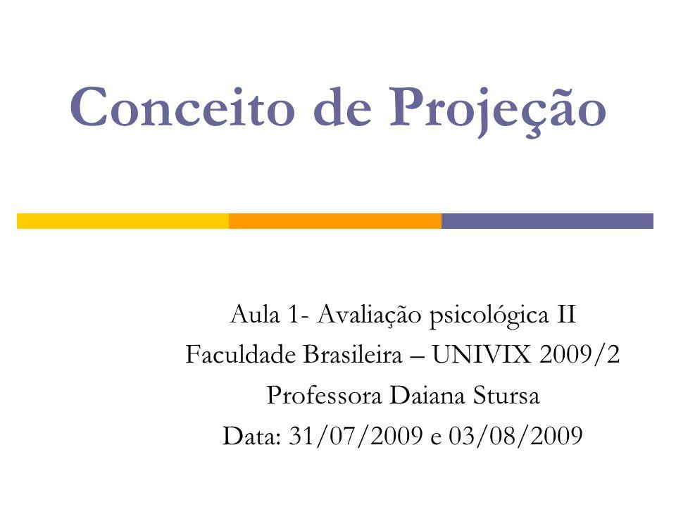 Conceito de Projeção Aula 1- Avaliação psicológica II