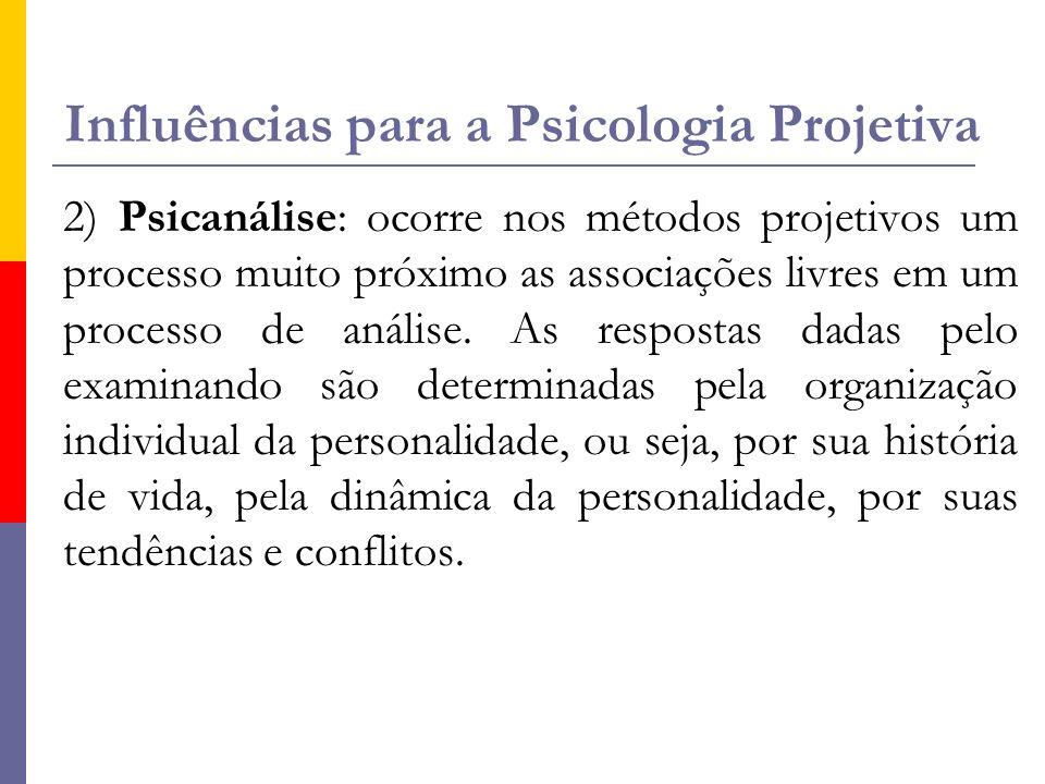 Influências para a Psicologia Projetiva
