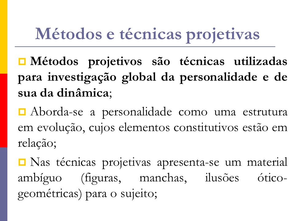 Métodos e técnicas projetivas