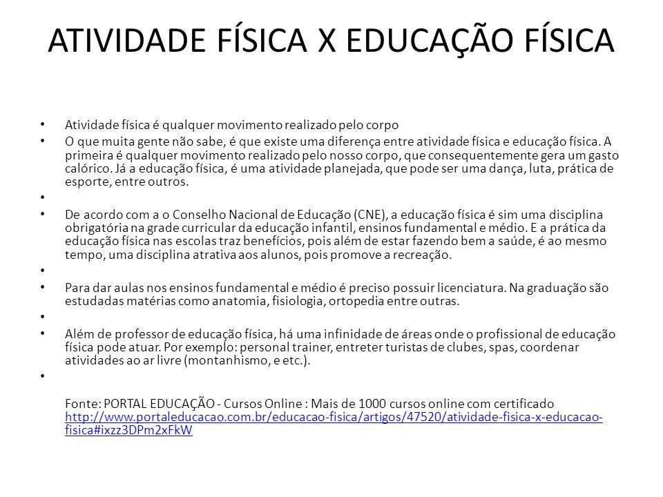 Well-known ATIVIDADE FÍSICA X EDUCAÇÃO FÍSICA - ppt carregar DE35