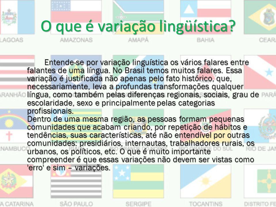 O que é variação lingüística