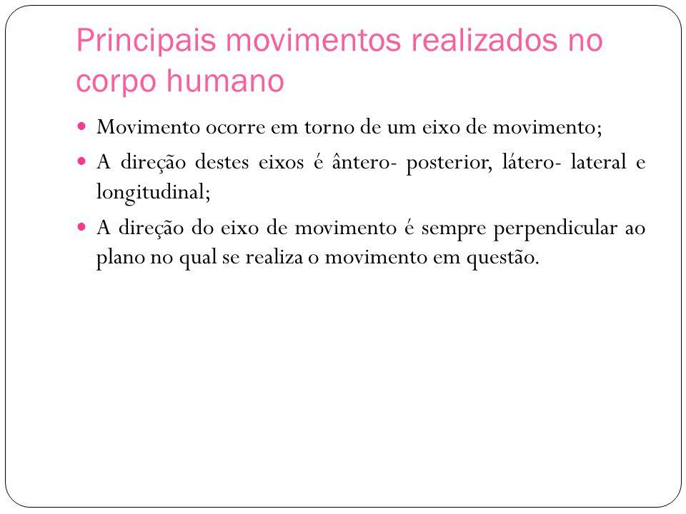 Principais movimentos realizados no corpo humano