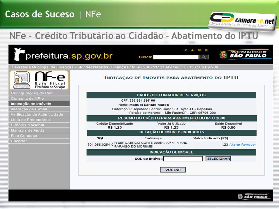 Casos de Suceso | NFe NFe - Crédito Tributário ao Cidadão – Abatimento do IPTU