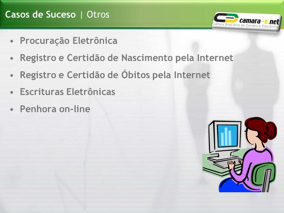 Casos de Suceso | Otros Procuração Eletrônica. Registro e Certidão de Nascimento pela Internet. Registro e Certidão de Óbitos pela Internet.