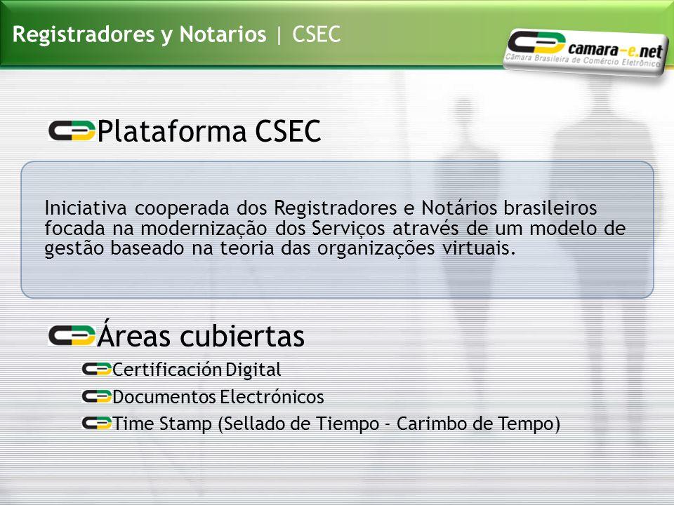 Plataforma CSEC Áreas cubiertas Registradores y Notarios | CSEC