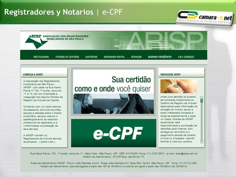 Registradores y Notarios | e-CPF
