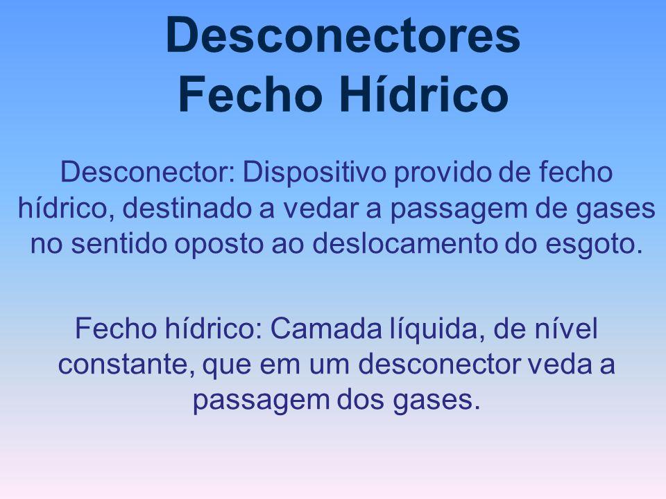 Desconectores Fecho Hídrico