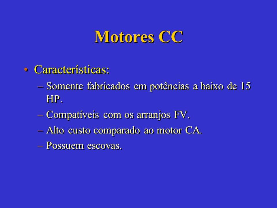 Motores CC Características: