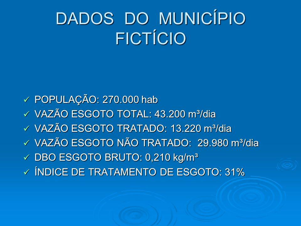 DADOS DO MUNICÍPIO FICTÍCIO