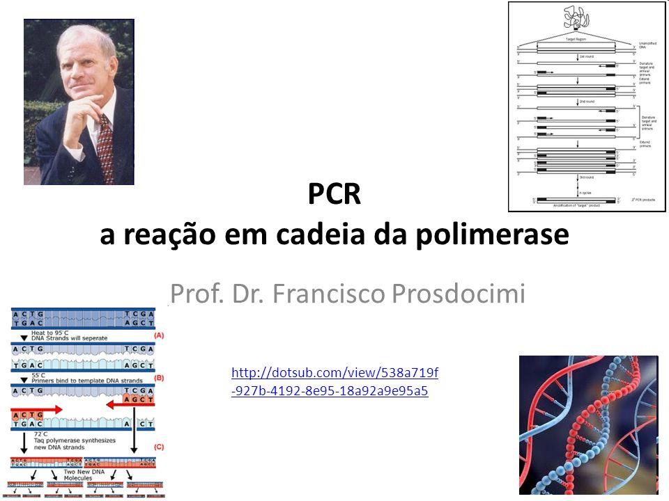 PCR a reação em cadeia da polimerase