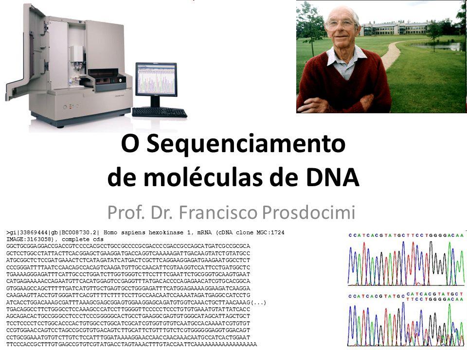 O Sequenciamento de moléculas de DNA