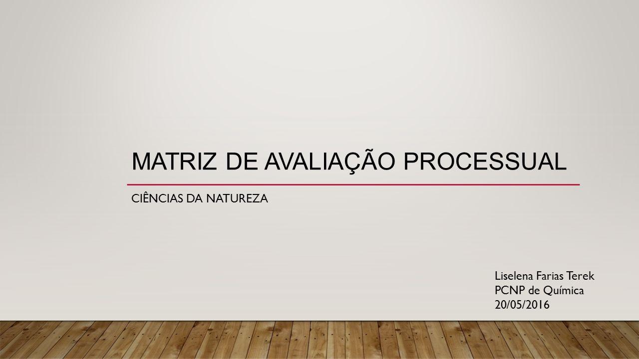 Matriz de avaliação processual