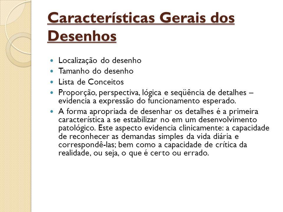Características Gerais dos Desenhos