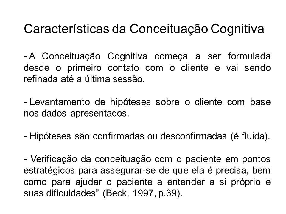 Características da Conceituação Cognitiva