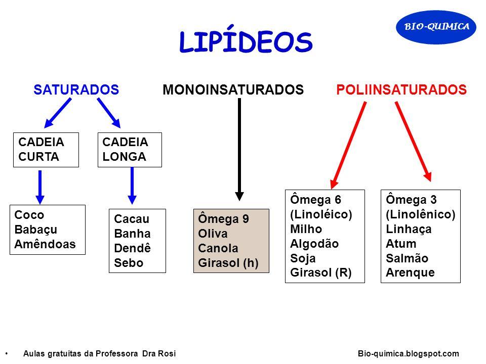 LIPÍDEOS SATURADOS MONOINSATURADOS POLIINSATURADOS CADEIA CURTA
