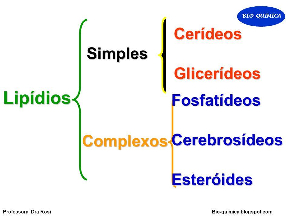 Lipídios Cerídeos Glicerídeos Simples Fosfatídeos Cerebrosídeos