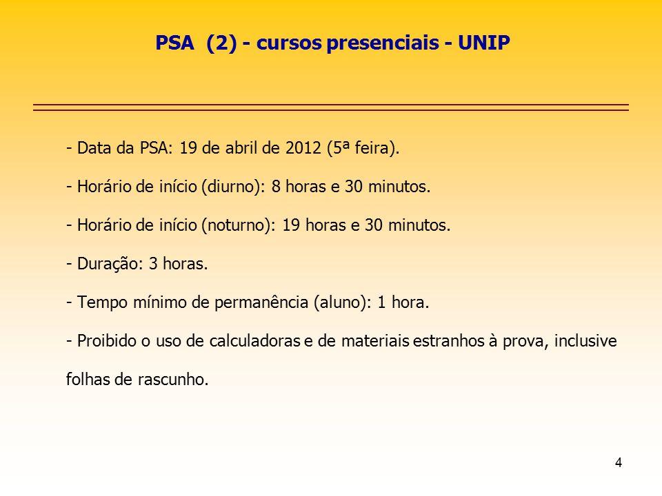 PSA (2) - cursos presenciais - UNIP