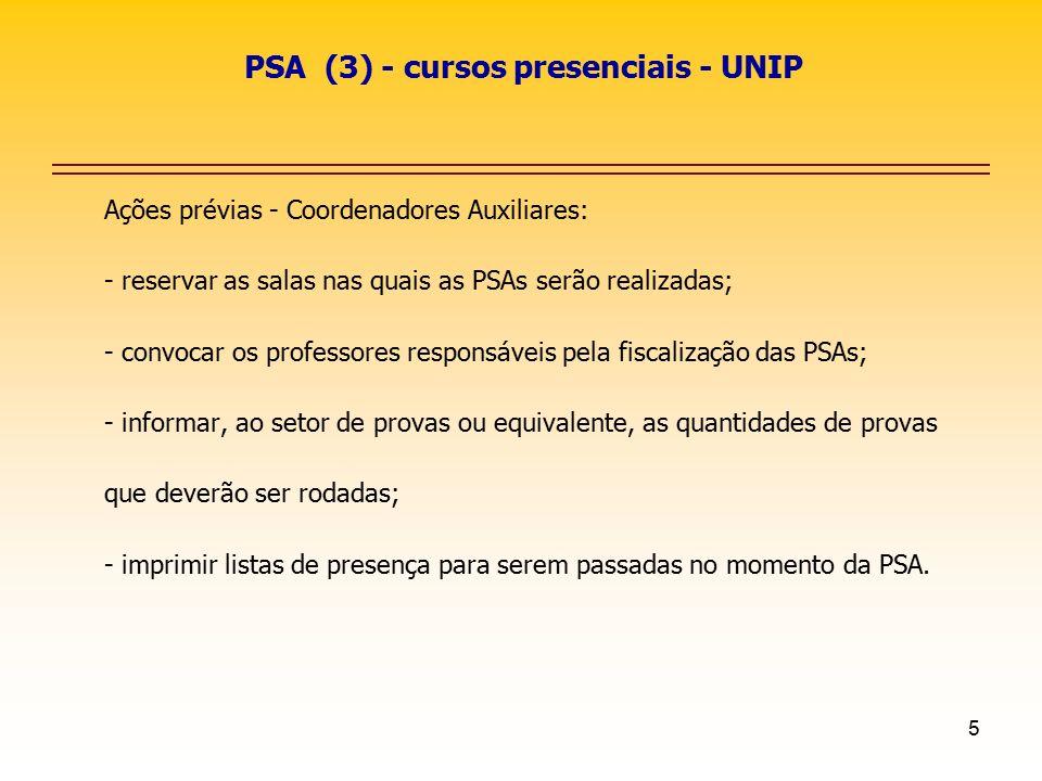 PSA (3) - cursos presenciais - UNIP