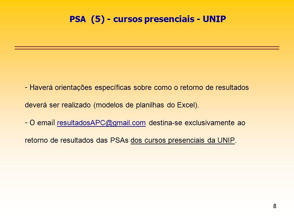 PSA (5) - cursos presenciais - UNIP