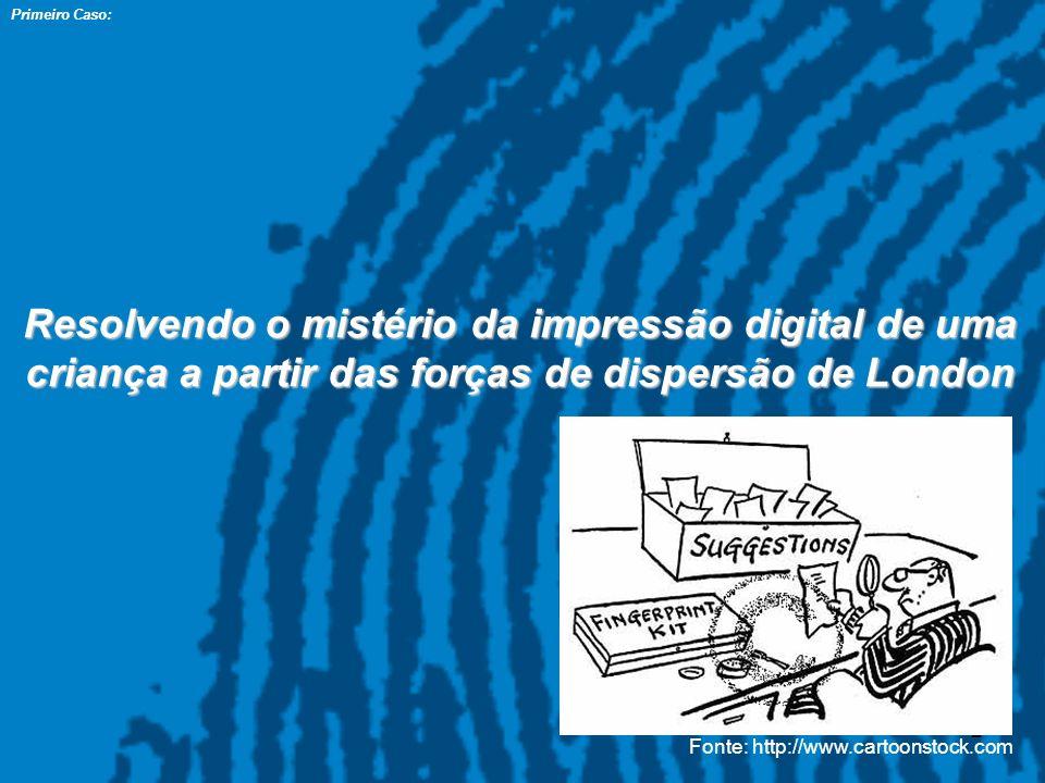 Primeiro Caso: Resolvendo o mistério da impressão digital de uma criança a partir das forças de dispersão de London.