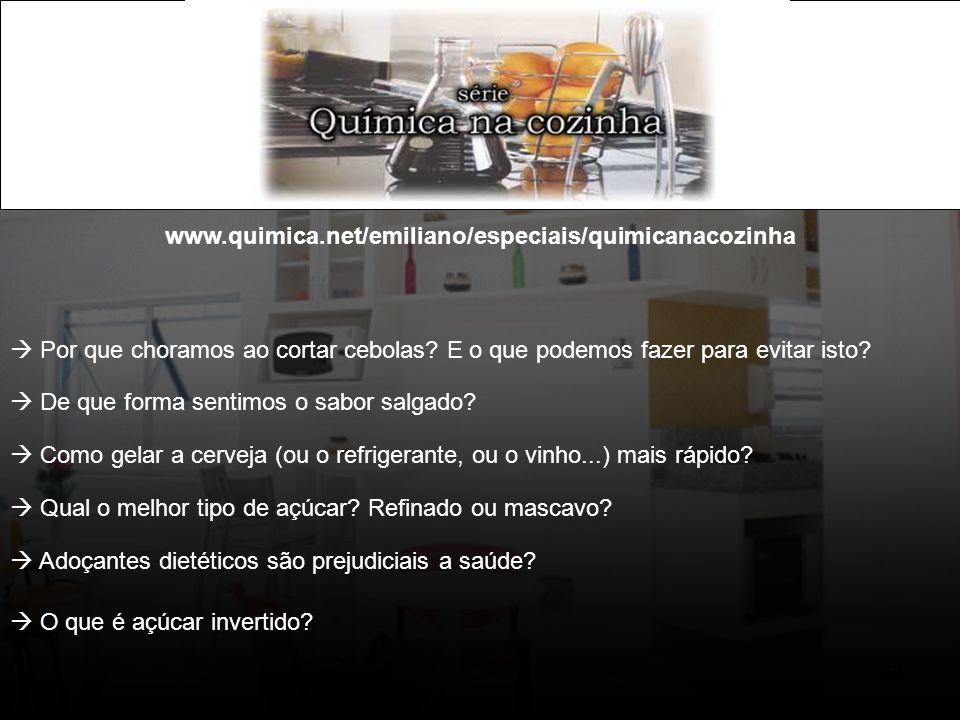 www.quimica.net/emiliano/especiais/quimicanacozinha  Por que choramos ao cortar cebolas E o que podemos fazer para evitar isto