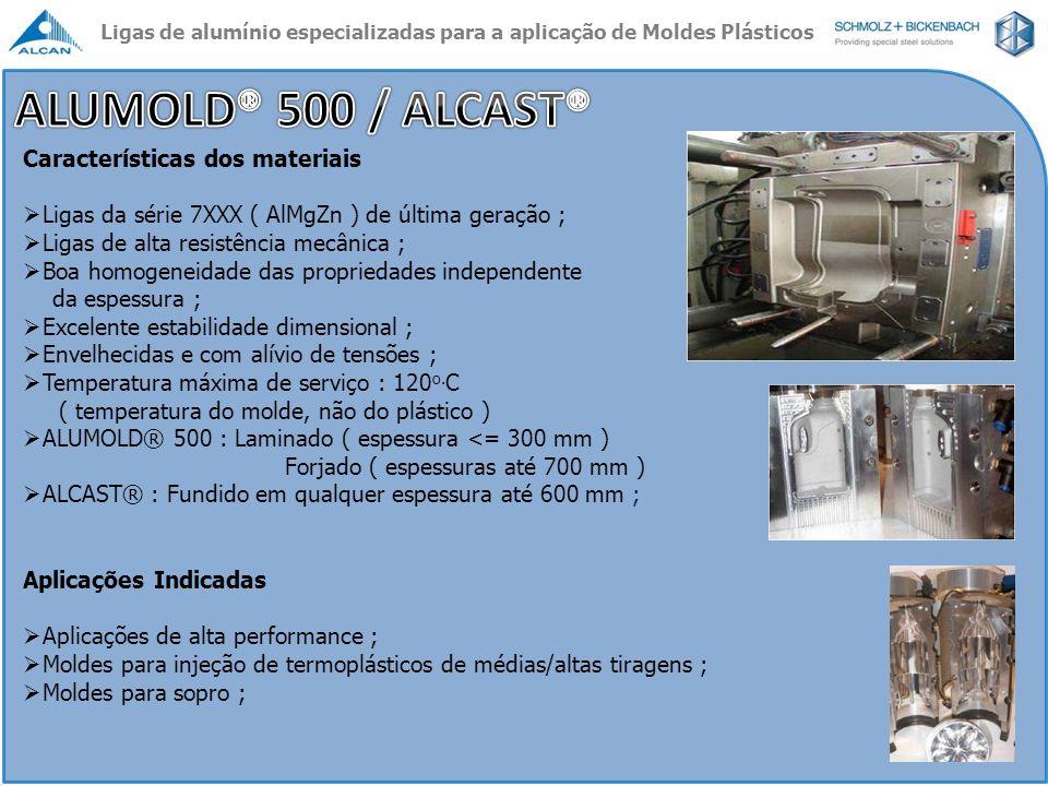ALUMOLD® 500 / ALCAST® Características dos materiais