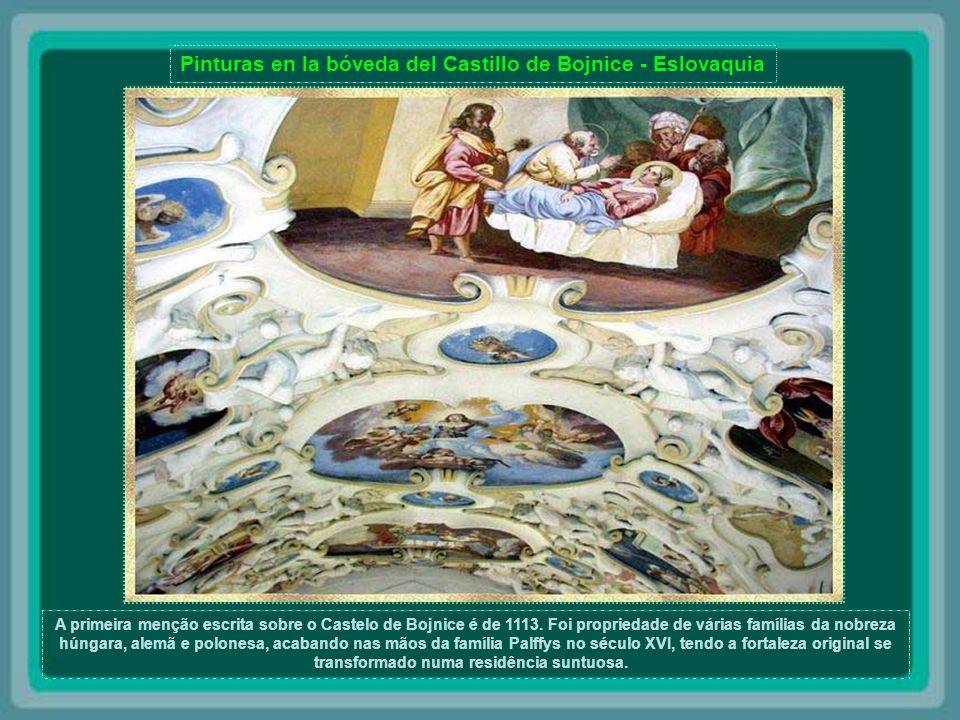 Pinturas en la bóveda del Castillo de Bojnice - Eslovaquia