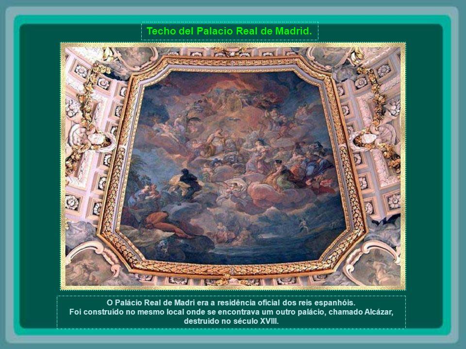 O Palácio Real de Madri era a residência oficial dos reis espanhóis.